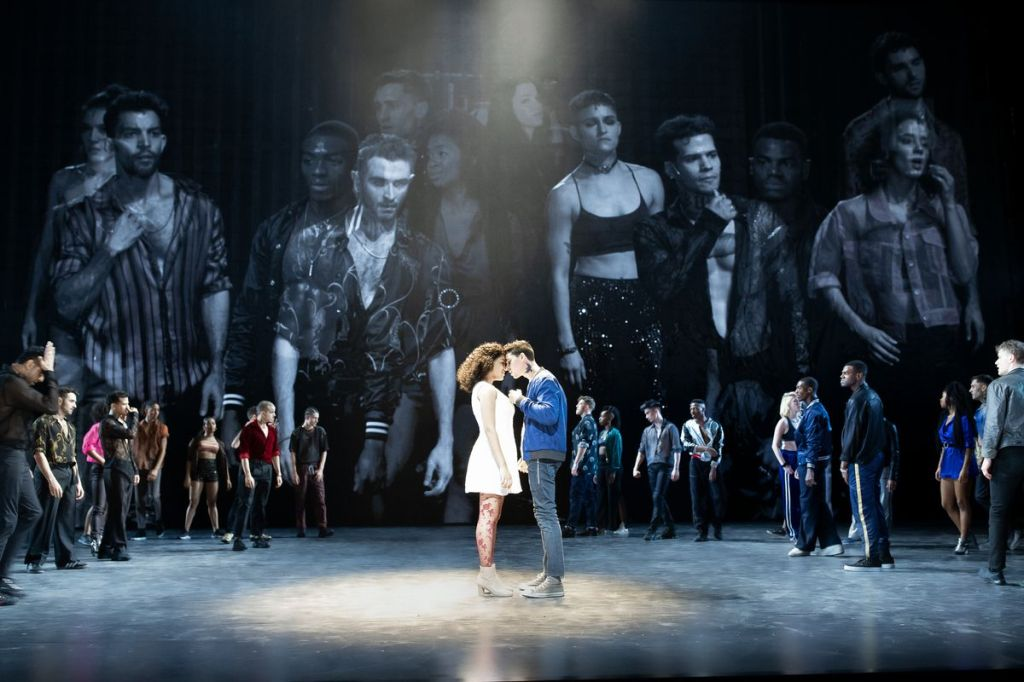 """Maria (Shereen Pimentel) and Tony (Isaac Powell) meet in the recent Broadway production of """"West Side Story."""""""